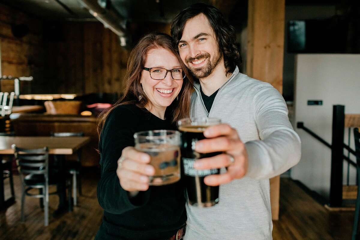 Ethan's favoritebeer is his Bitumunious Black Ale,while Erin is partial to the Angry Bride, which was named after her, and an incident that happened the day before the Resteiner's wedding day. (Sabrina Leigh Studios/Courtesy Photo)