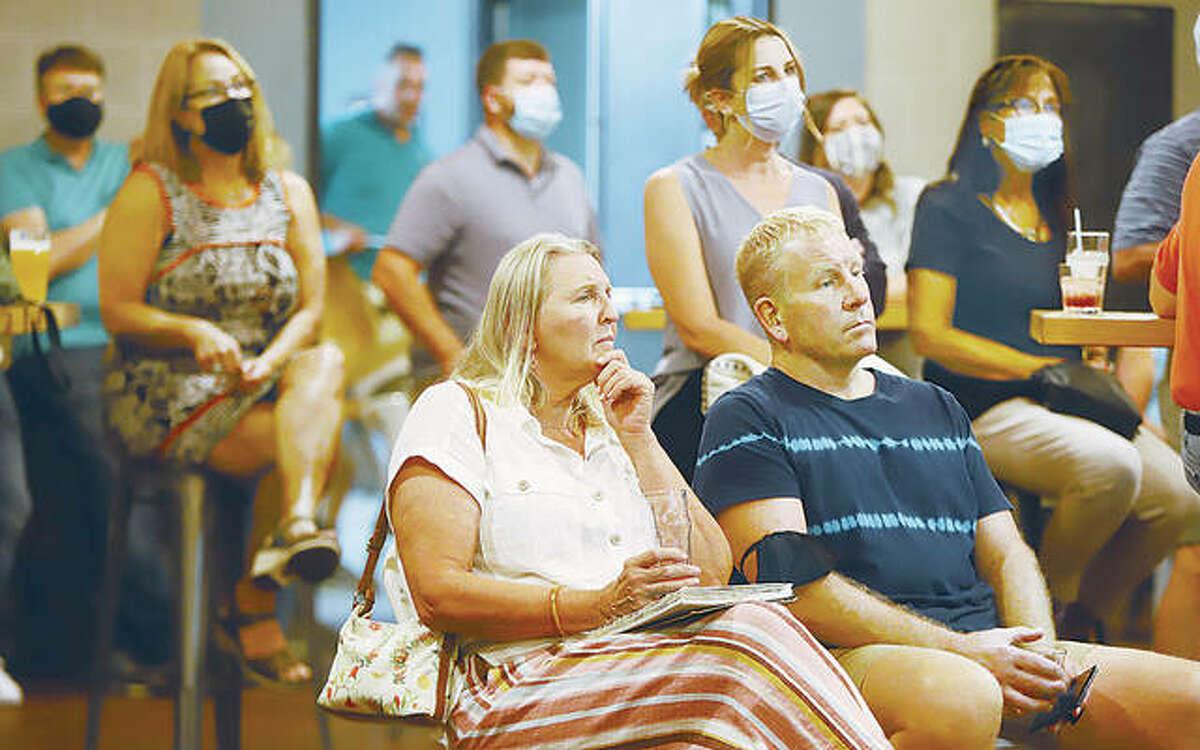More than 50 people attended an AltonWorks presentation Wednesday night on a historical district in of downtown Alton.