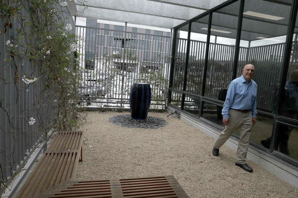 Former group community and government affairs manager Paul F. Giusti shows the zen garden at Recology in 2018. The waste management company has agreed to pay out $36 million after federal prosecutors alleged that Giusti secured high-dollar bribes for Department of Public Works Director, Mohammed Nuru.
