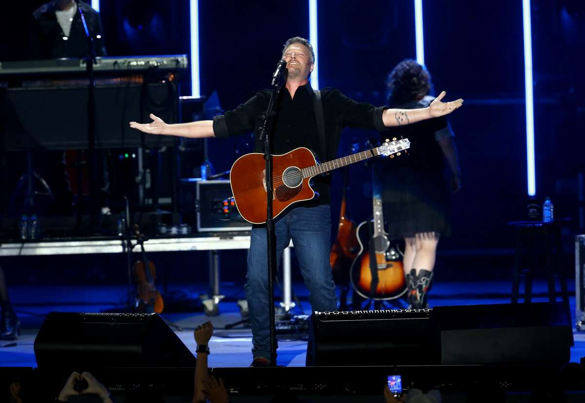 Blake Shelton performs during the CMA Summer Jam at Ascend Amphitheater on July 27, 2021 in Nashville, Tennessee.