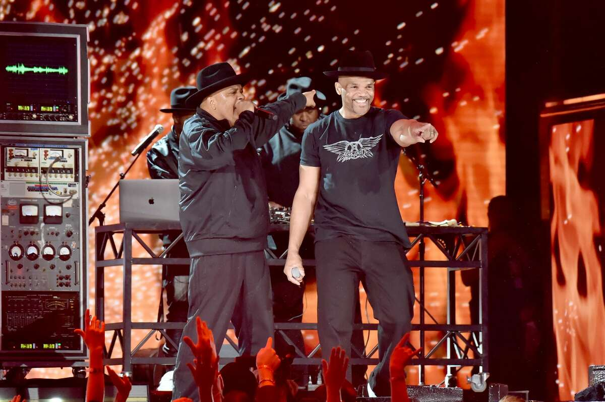 (L-R) Joseph Simmons and Darryl McDaniels of Run-DMC perform onstage during the 62nd Annual GRAMMY Awards at Staples Center on January 26, 2020 in Los Angeles, California.