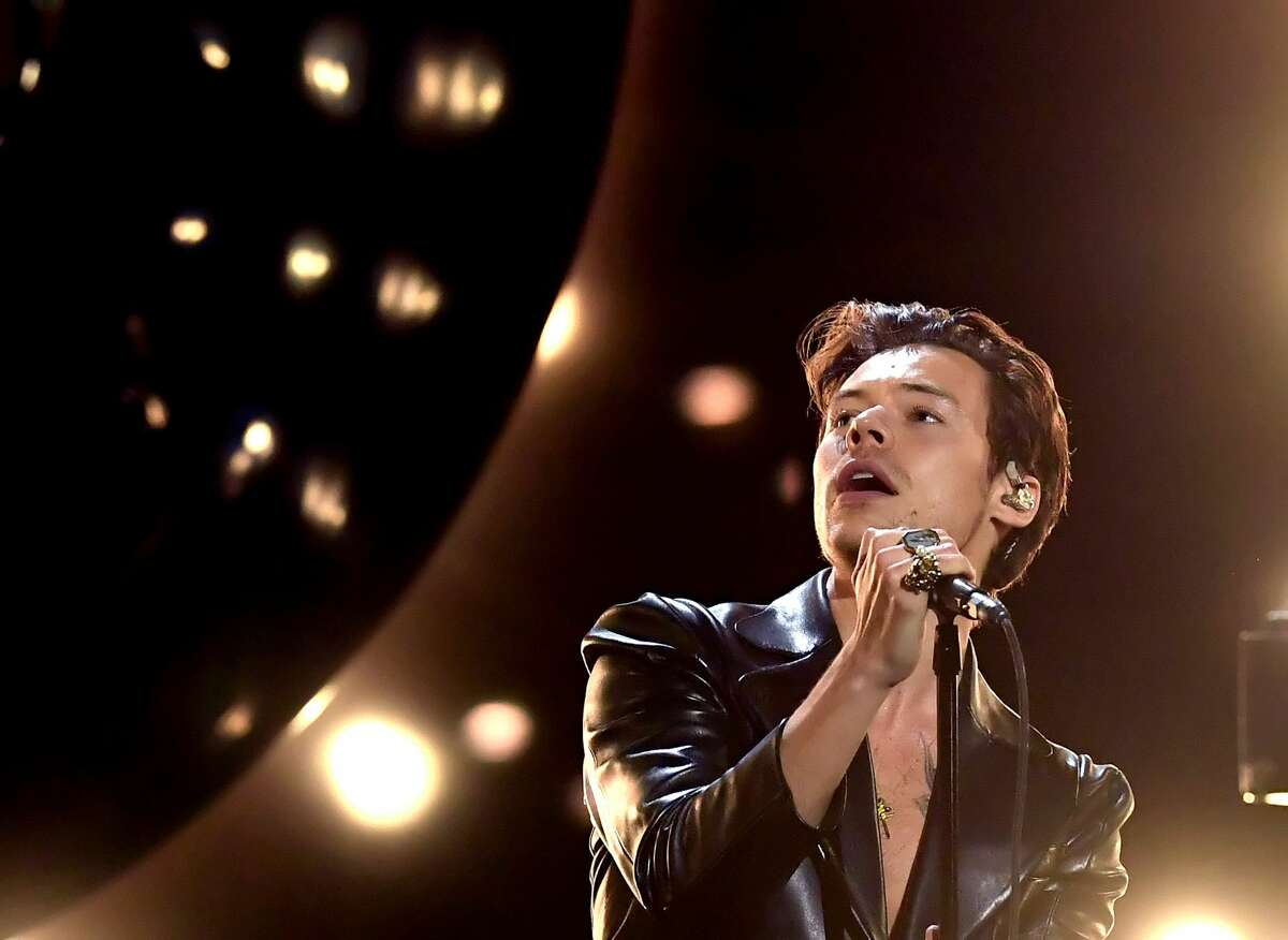 Harry Styles performs onstage during the 63rd Annual GRAMMY Awards at Los Angeles Convention Center in Los Angeles, California and broadcast on March 14, 2021.