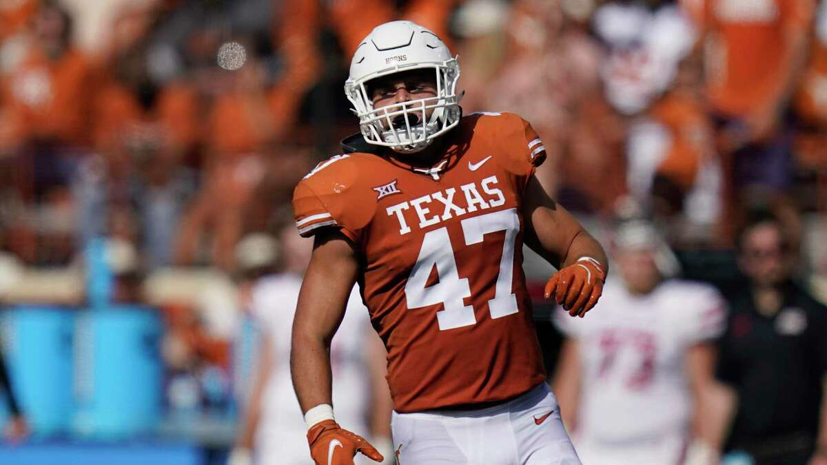 Texas linebacker Luke Brockermeyer recorded a career-high 10 tackles in his first-ever start Saturday against Louisiana.