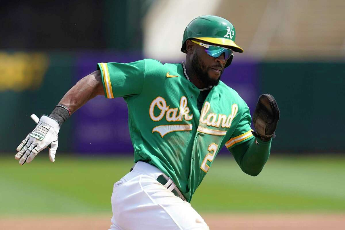 Starling Marte and the A's open a three-game series with Texas at the Coliseum at 6:30 p.m. Friday (NBCSCA/960).