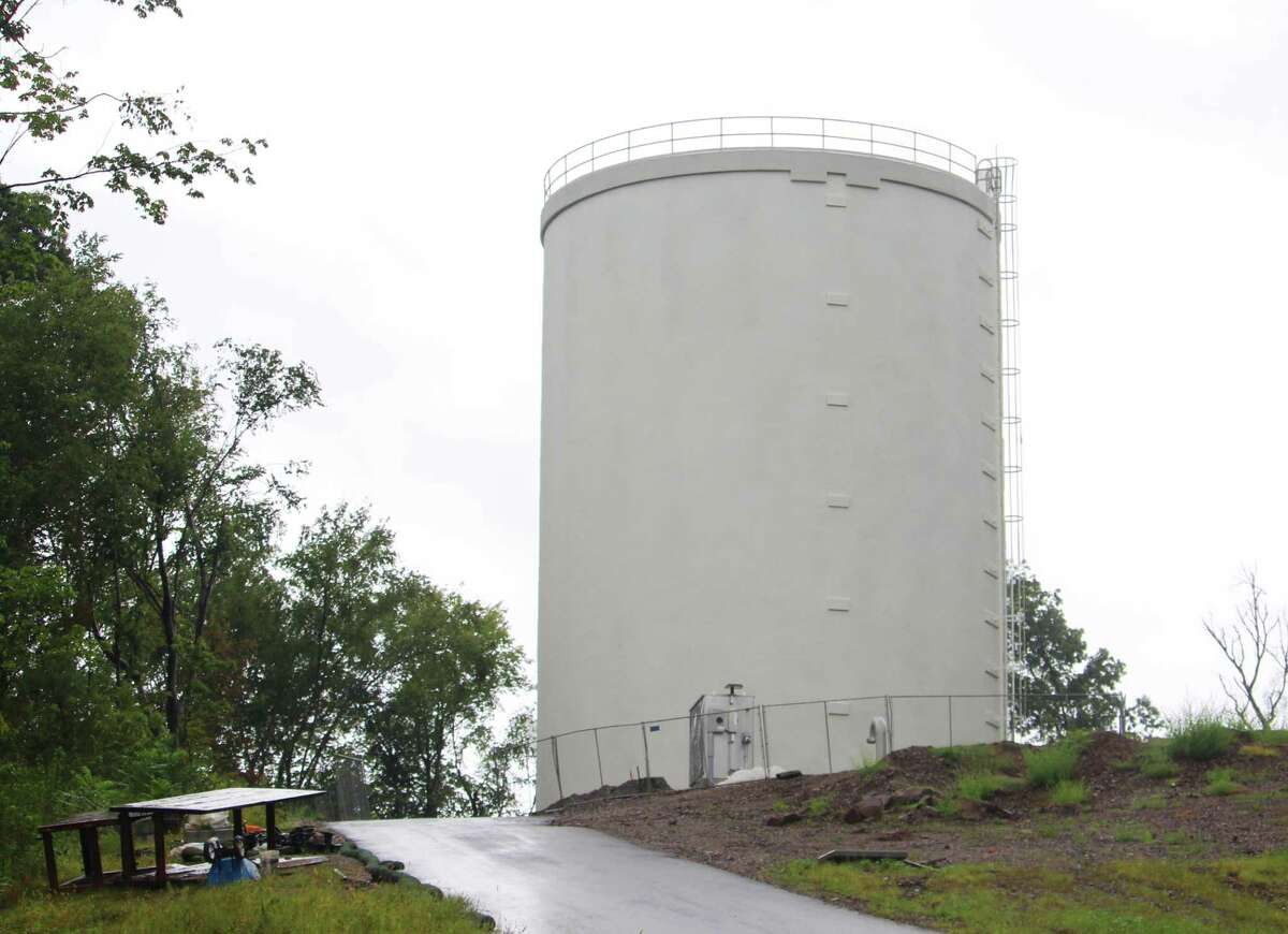 The water tower, which will supply clean water to Durham, is located at the end of Talcott Ridge Drive in Middletown.