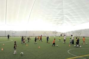 The proposed indoor sports complex in Wilton has been said to have plans similar to the domed turf complex in Danbury, as seen here.