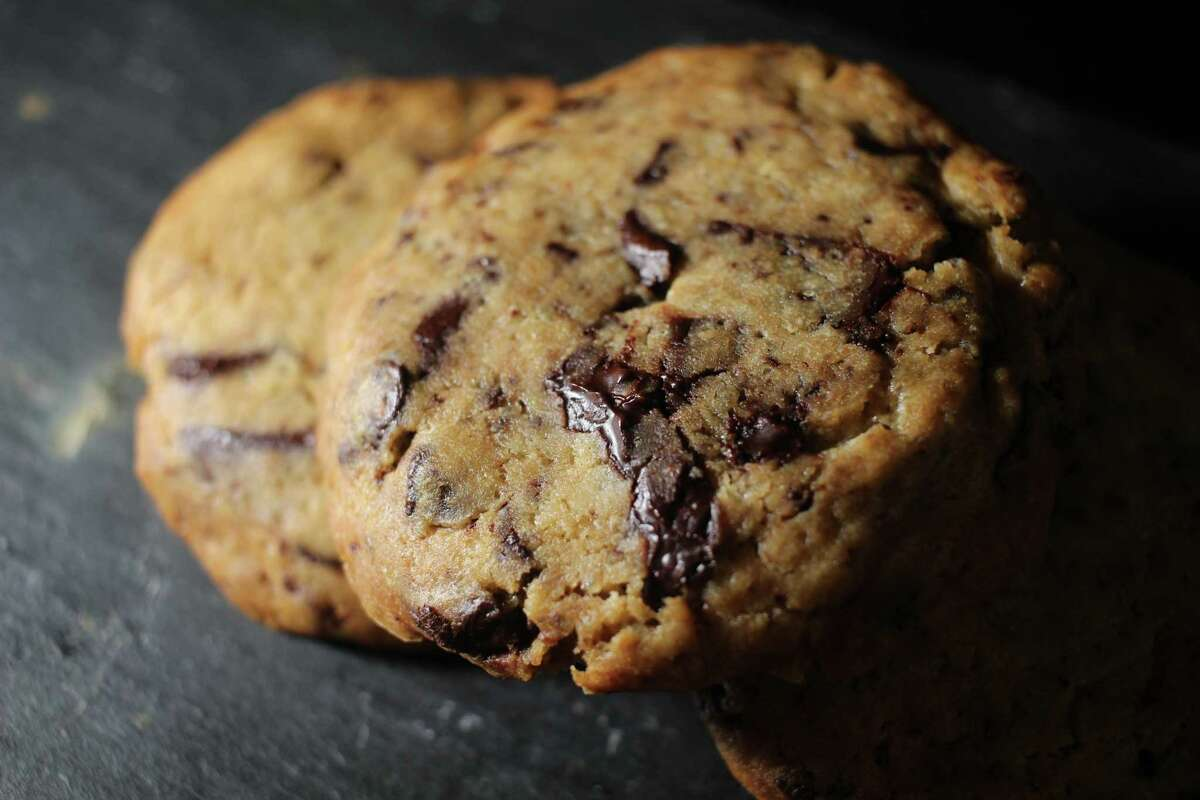 The vegan Valrhona chocolate chip cookie at Les Elements