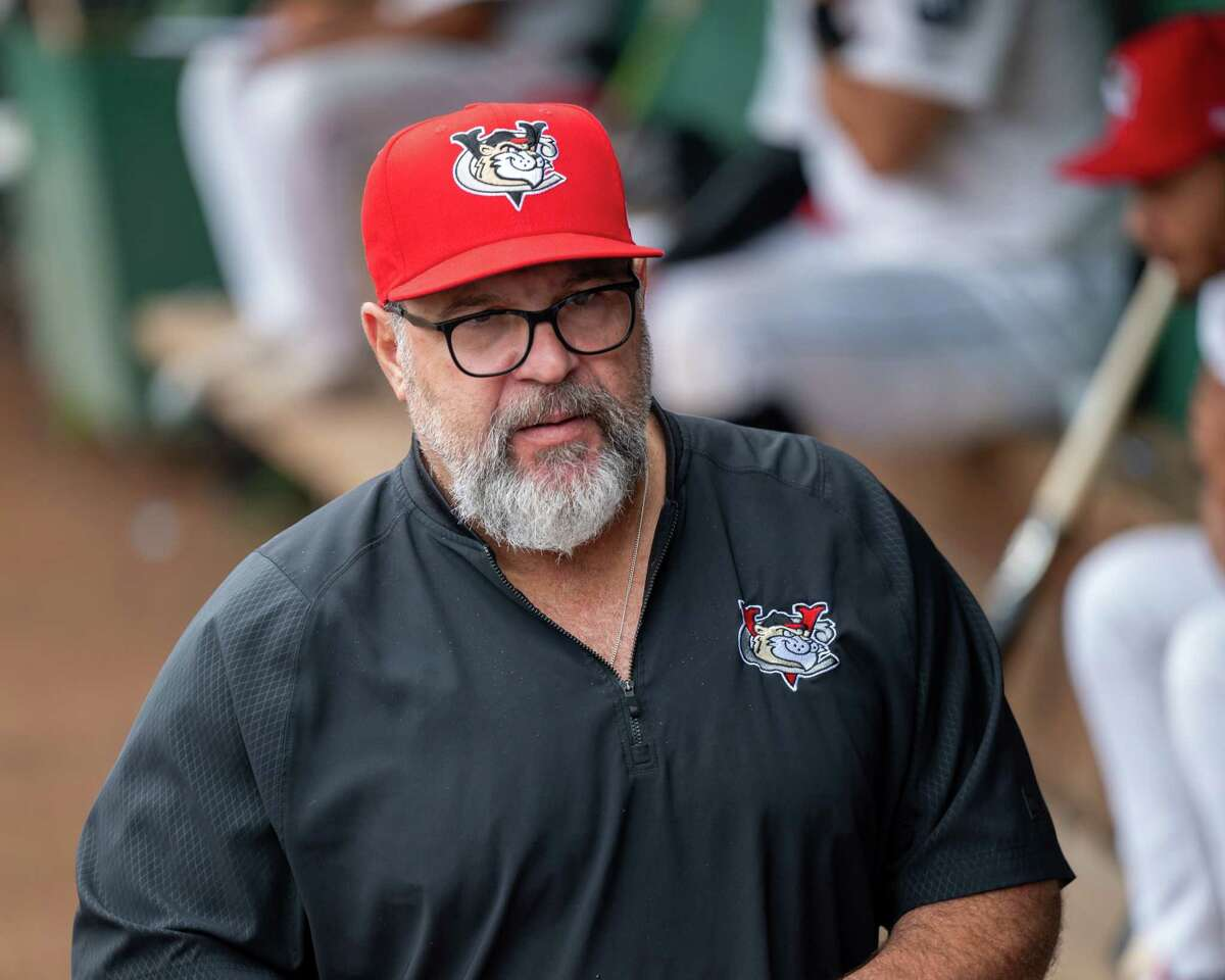 Tri-City ValleyCats manager Pete Incaviglia during a game against the Sussex County Miners at the Joseph L. Bruno Stadium on the Hudson Valley Community College campus in Troy, NY, on Thursday, Sept. 9, 2021 (Jim Franco/Special to the Times Union)