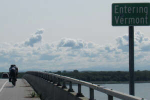 Crossing east into Vermont near Rouses Point, N.Y.