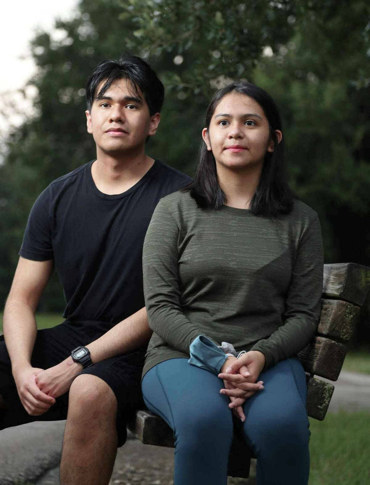 Jessica Gil, and her brother Alejandro are co-founders of an organization called doctorsoftomorrow56. Photographed near their home, Wednesday, August 18, 2021, in Houston. Alejandro Gil founded the organization a year ago to educate and give more insight about medicine to high school students, college students, medical students, and anyone interested in medicine.