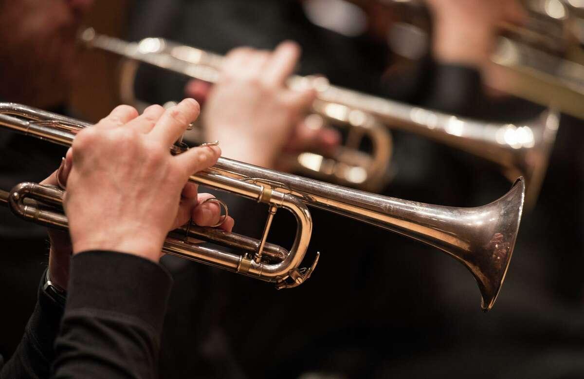 The Stamford Symphony Brass Quintet.