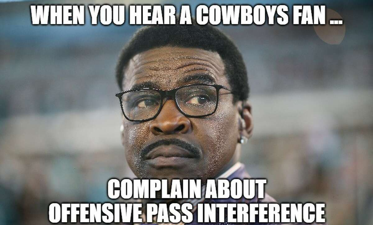 The same fans who love Michael Irvin complaining about offensive pass interference is hilarious.