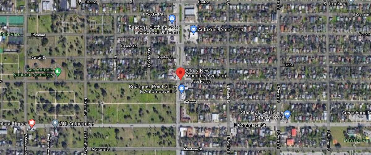 A 40-year-old man died and a 34-year-old woman was hospitalized after a drive-by shooting Thursday night on the East Side. The map shows he location of the incident.