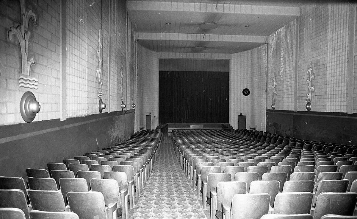 FILE - This photo shows an interior view of the main auditorium inside the Vogue Theatre in 1981. (Manistee County Historical Museum photo)