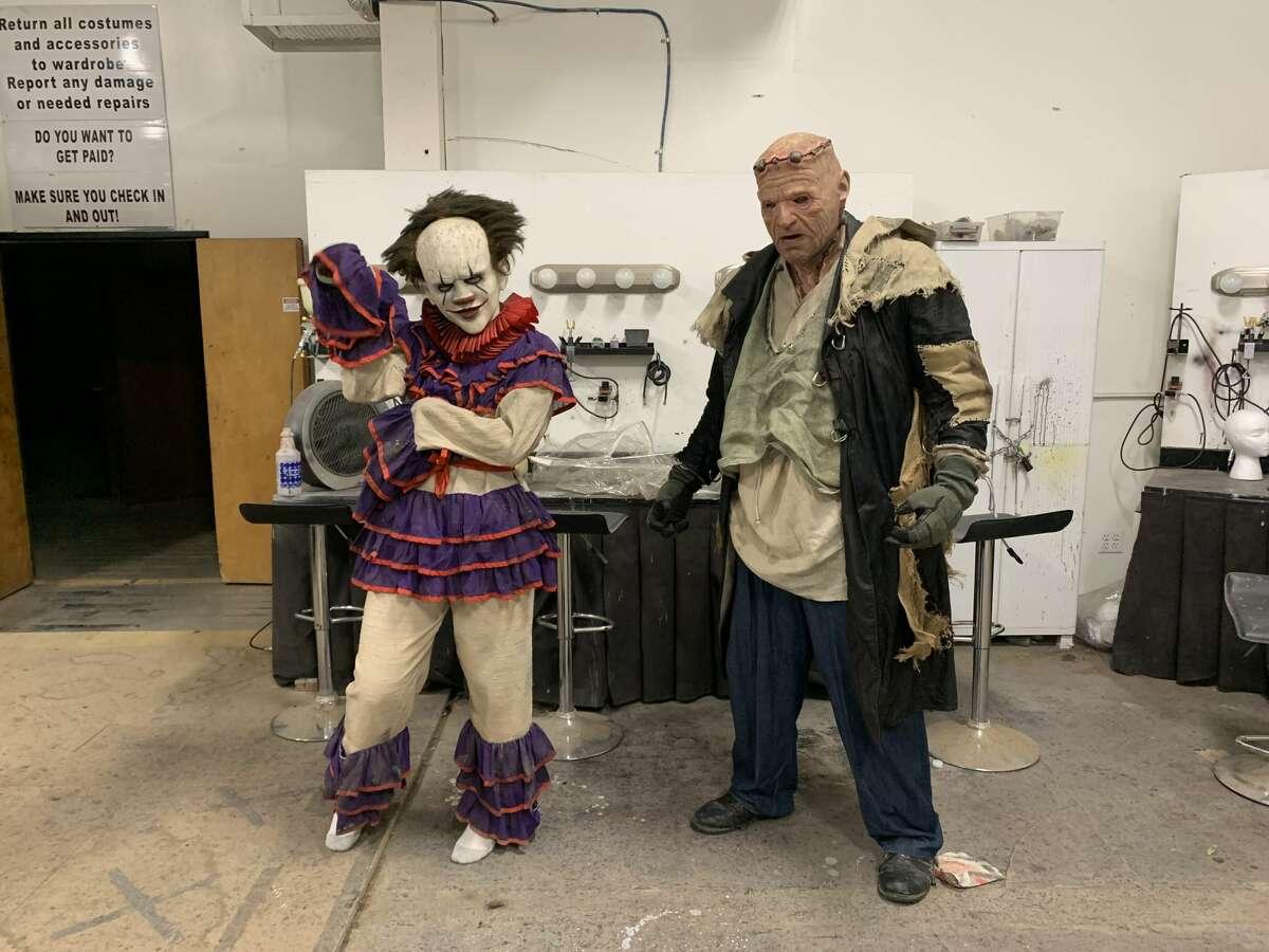 Scare actors at San Antonio's 13th Floor.