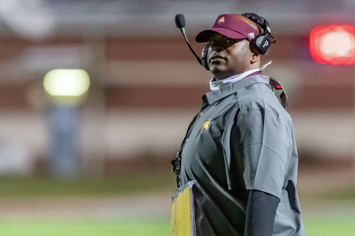 Beaumont United coach Marcus Graham. The Beaumont United Timberwolves welcomed the Port Neches-Groves Indians to BISD Memorial Stadium on Friday night. Photo made on October 02, 2020. Fran Ruchalski/The Enterprise