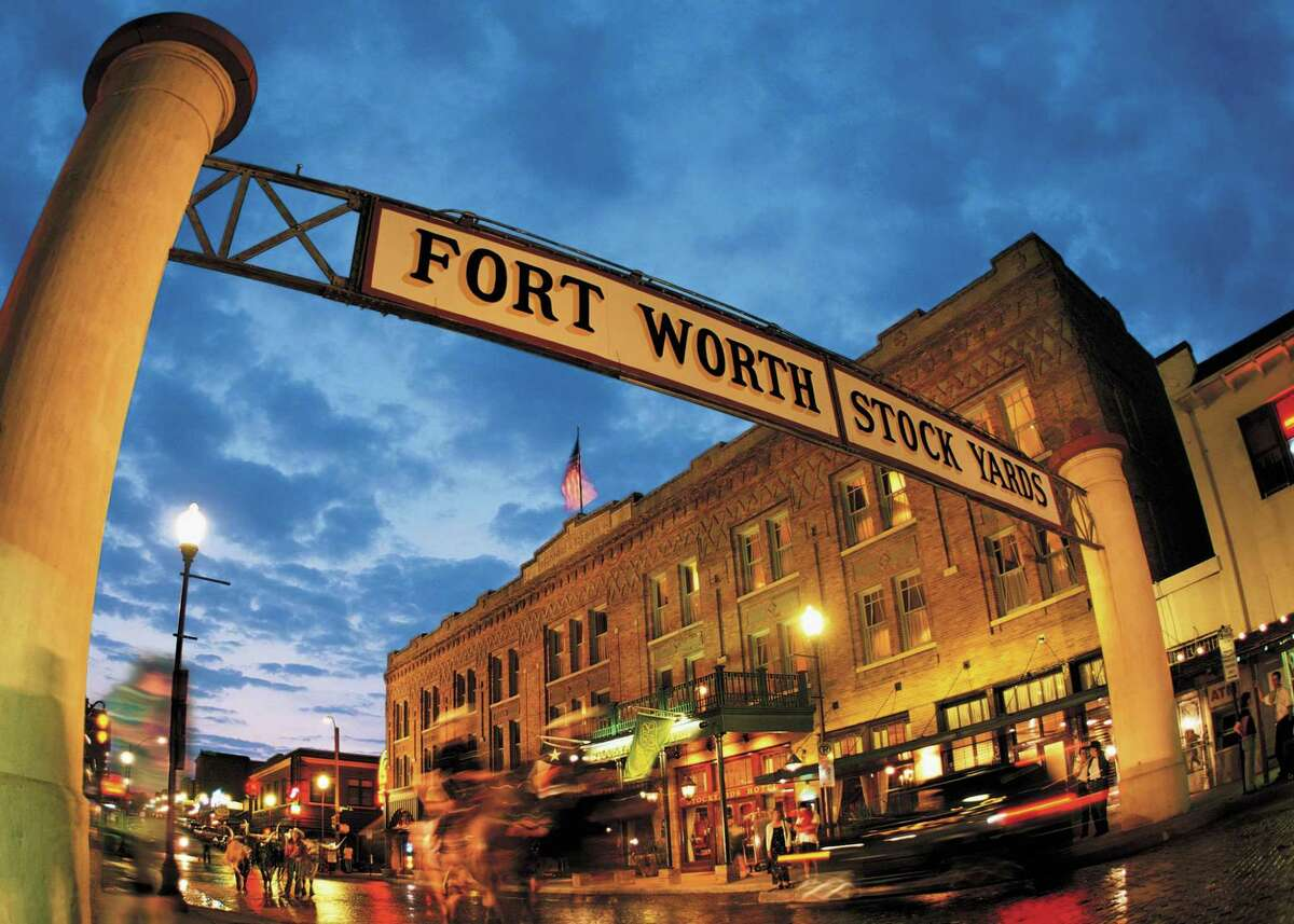 The Fort Worth National Historic Stockyard District transports visitors to the Old West.