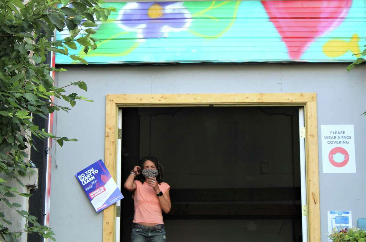 Free Center, located at 52 N. Main St. in Middletown, provides a space for anyone and everyone to gather, share artwork, perform and reflect - free of charge. Shown is founder Kerry Kincy.