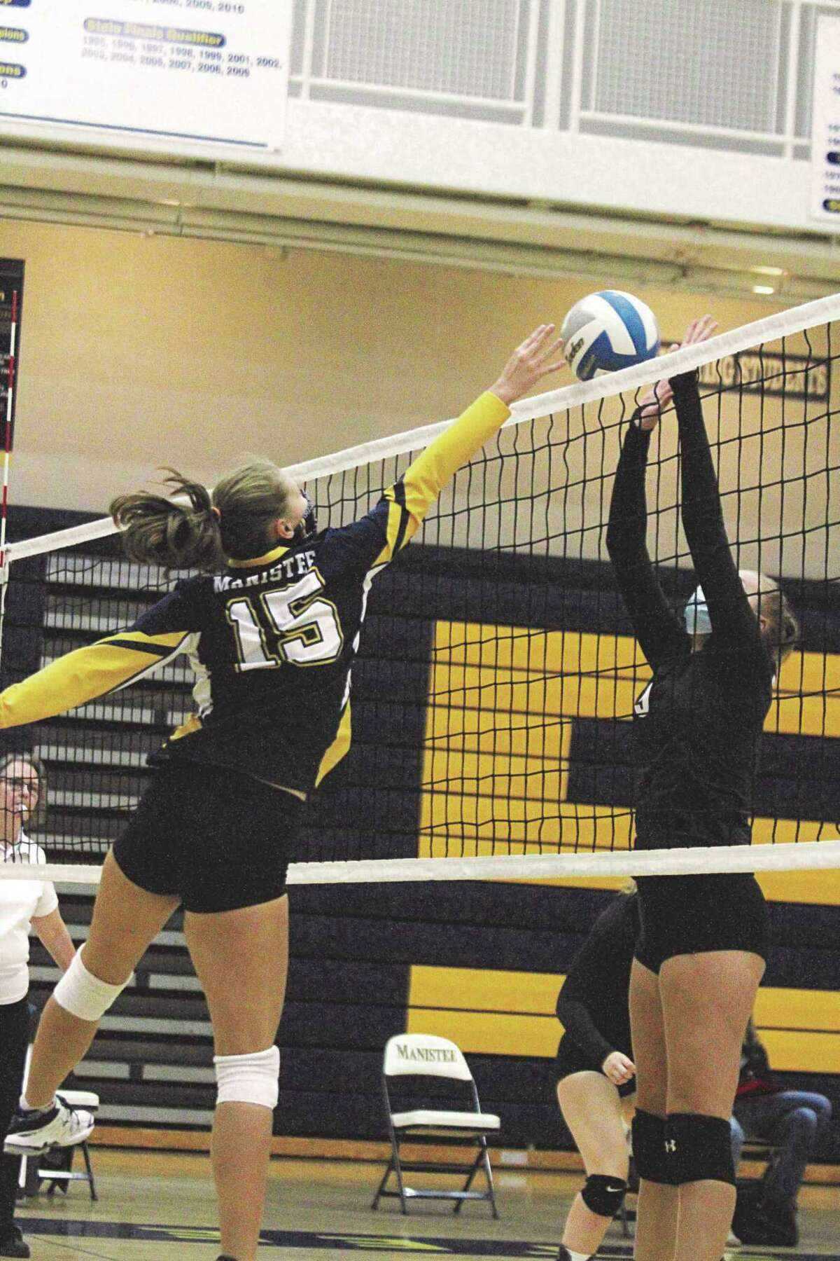 Allison Kelley is one of several returners who should give Manistee a strong presence at the net this fall.