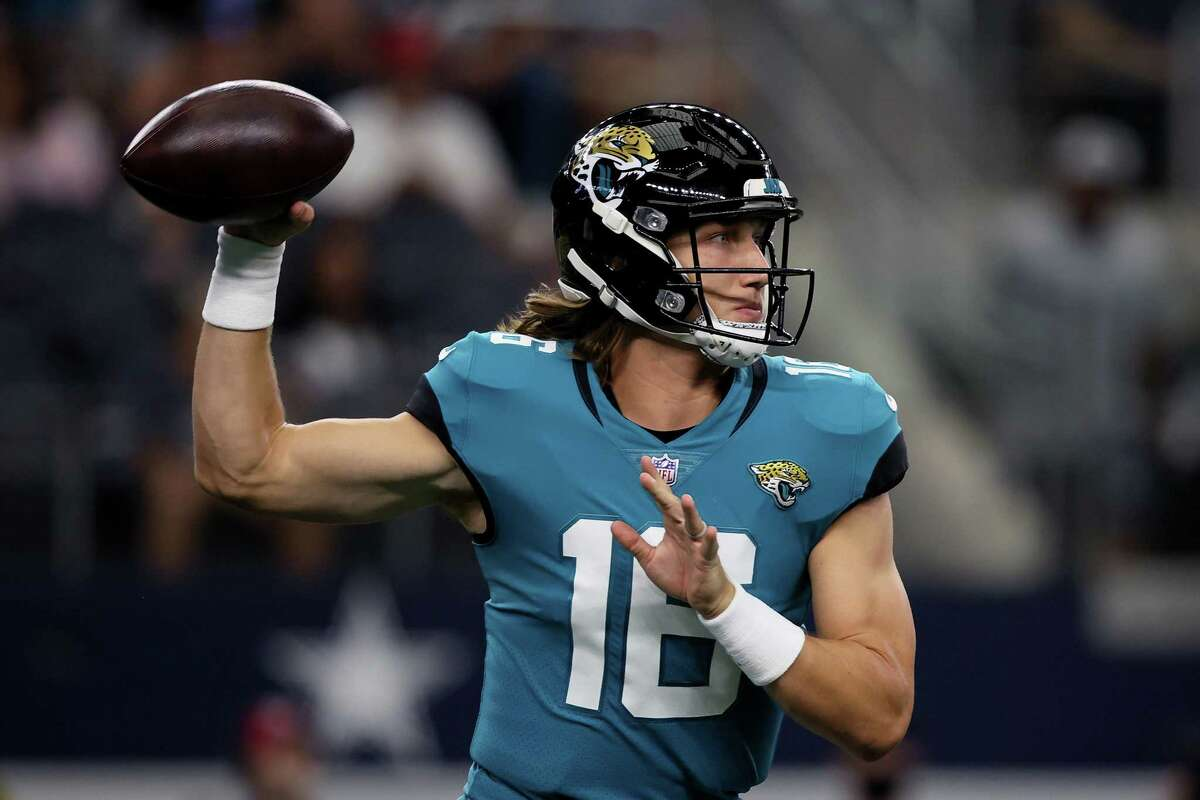 The Jaguars' Trevor Lawrence will become the fifth quarterback drafted first overall to face the Texans as a rookie, joining Alex Smith (2005), Cam Newton (2011), Andrew Luck (2012) and Baker Mayfield (2018).