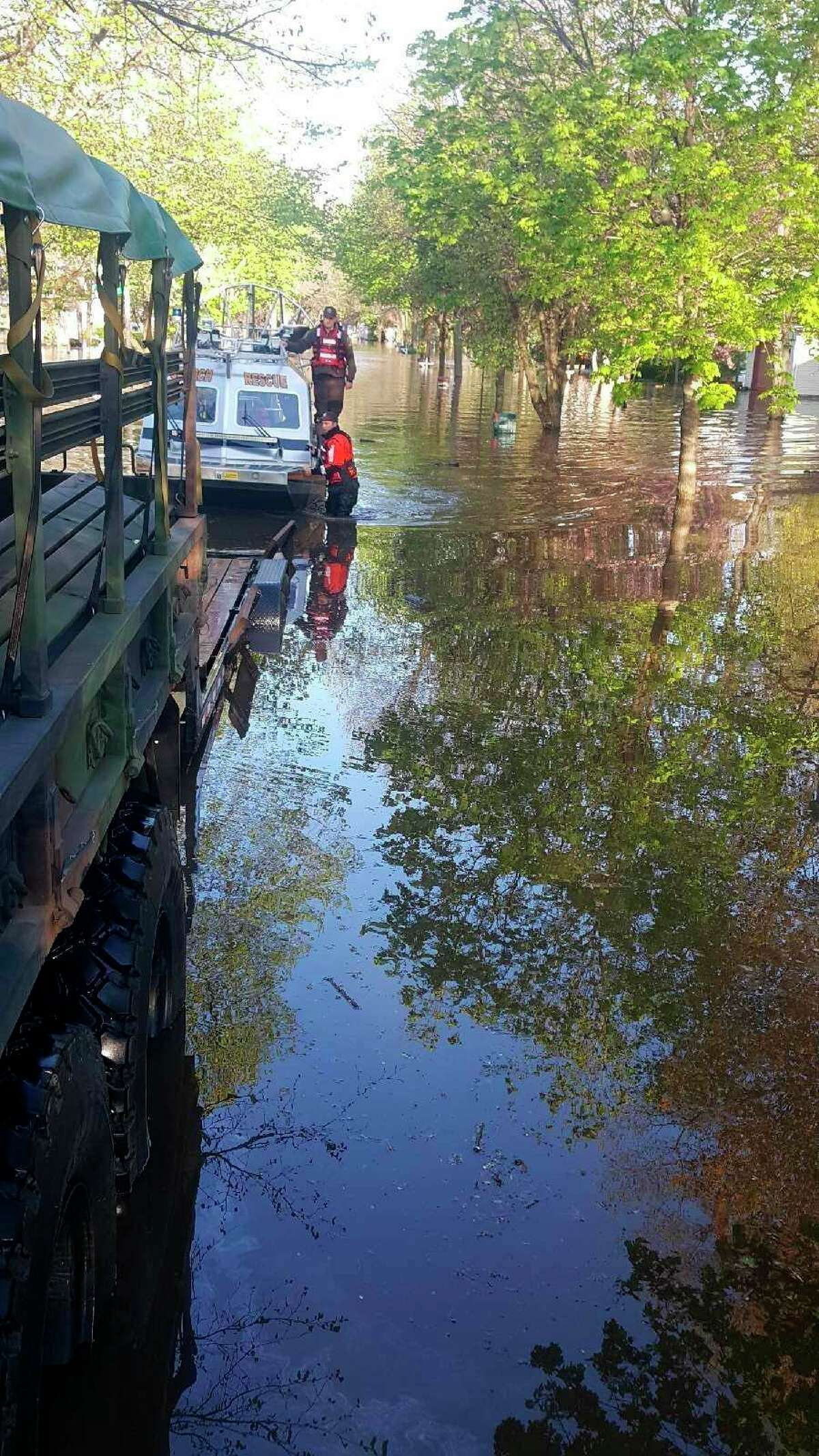 In addition to benefiting county residents, some of the sheriff department's equipment has benefited other communities like Midland during massive flooding in 2020. (Courtesy Photo)