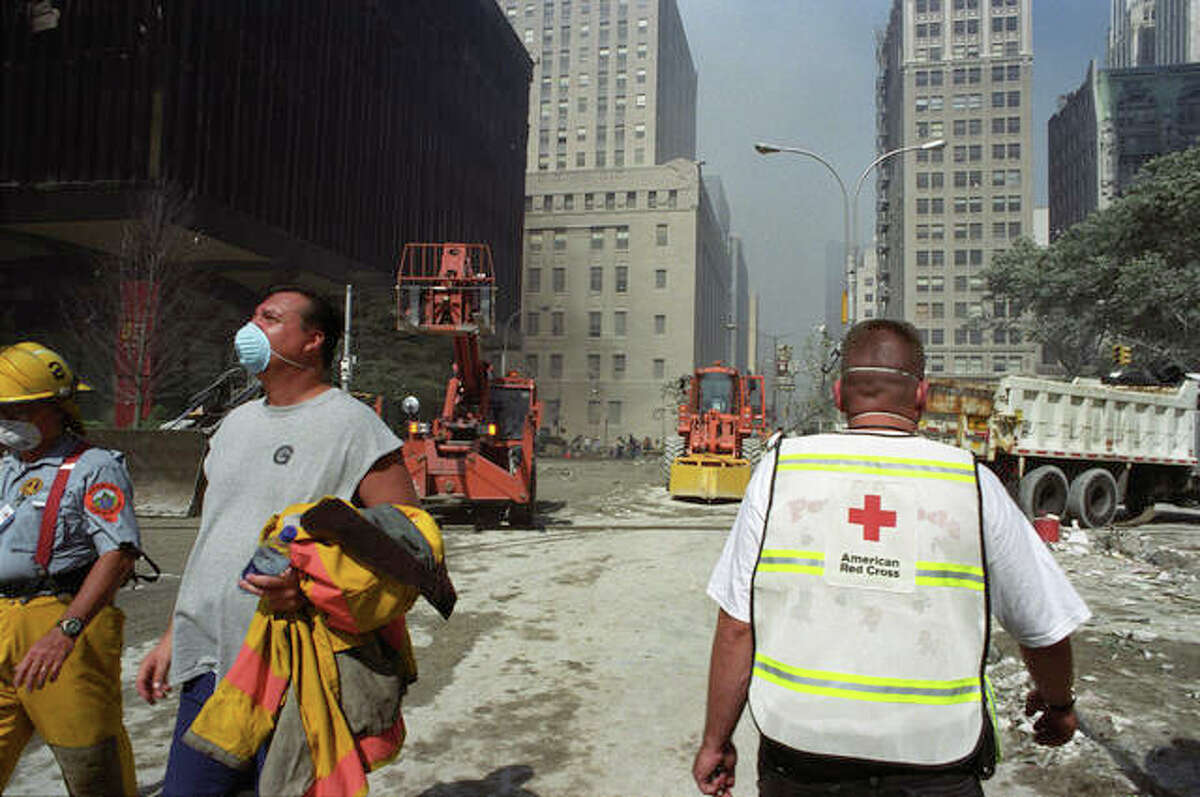 American Red Cross employees and volunteers were already on the scene on Sept. 12, 2001, after the 9/11 terrorist attack in New York City.