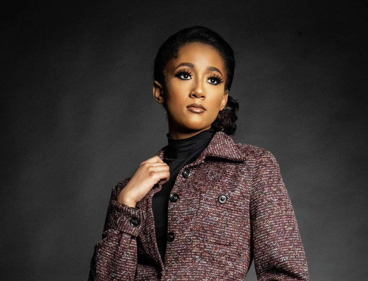 Houston teen Nicole Mayberry, 15, will be one of the models featured in the Negris Lebrum fashion show at New York Fashion Week on Sept. 11, 2021. The brand's founder is Travis Hamilton of Houston.