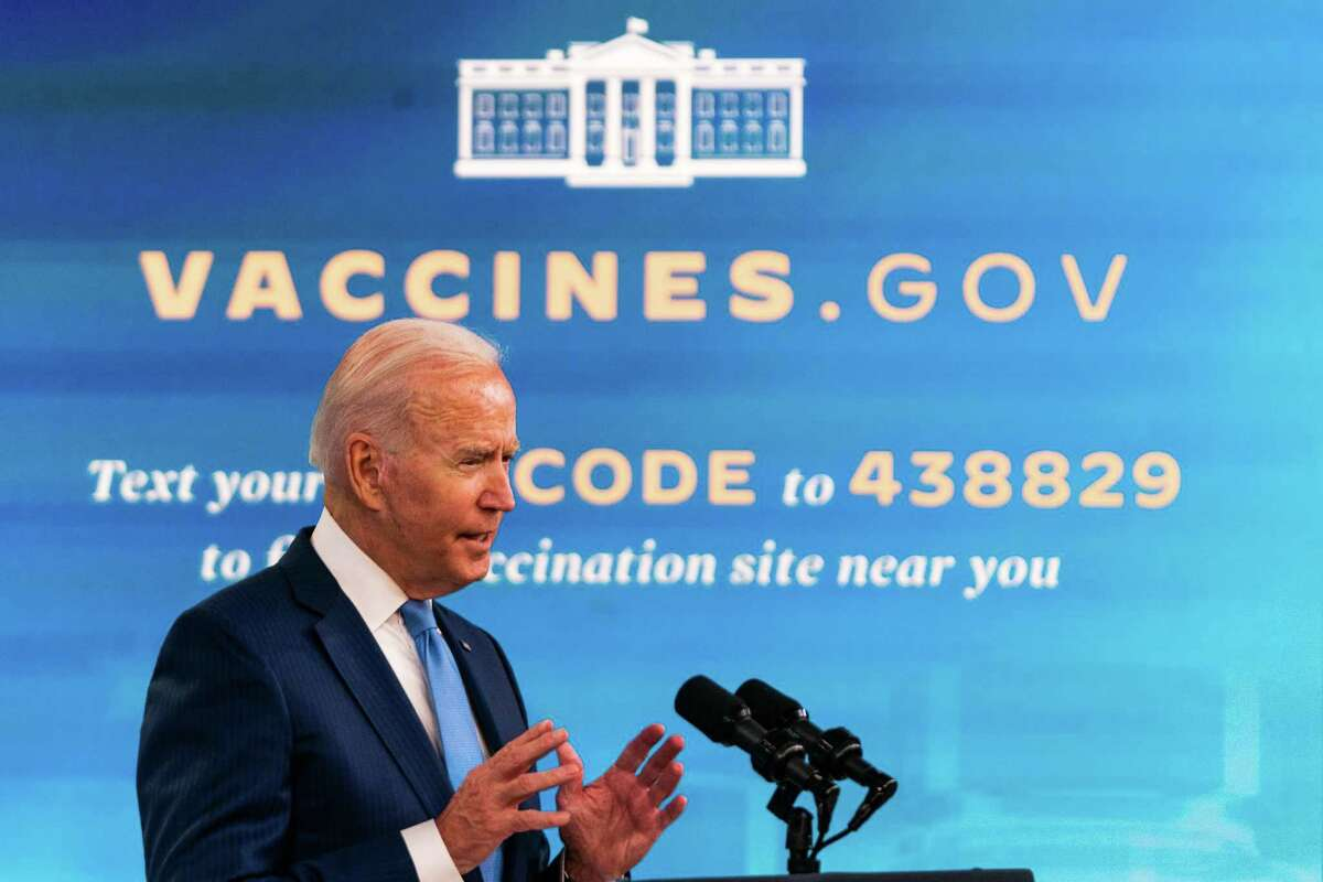 President Biden in August 2021 at the White House. On Sept. 9, Biden announced plans to impose a COVID-19 vaccination requirement on companies with at least 100 employees, or otherwise collect test results weekly from workers declining to get vaccinated.