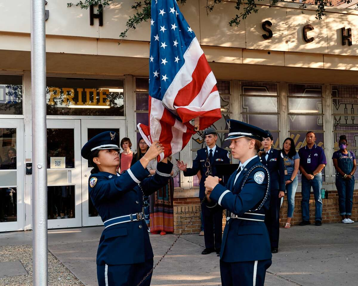 Ceremony at Midland High School held in honor of the 20th anniversary of 9/11.