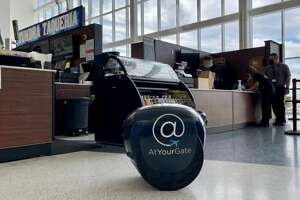 Gita, the robot, delivers food orders right to the gate.