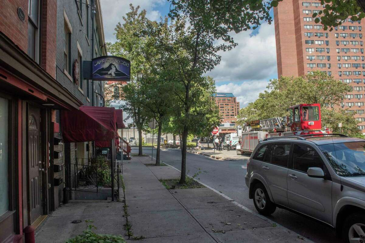 Exterior of Cafe Capriccio on Friday, Sept. 10, 2021 in Albany, N.Y.