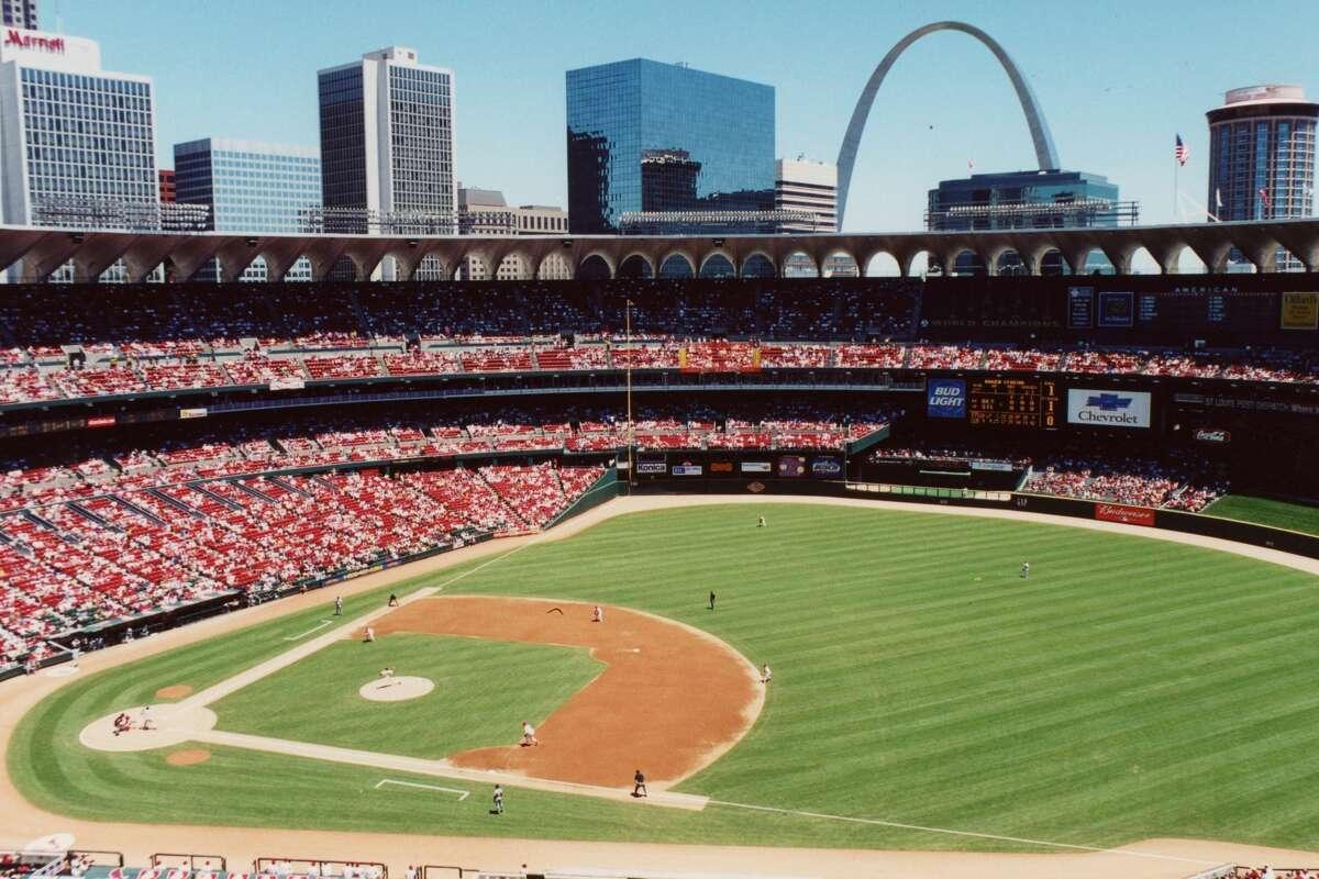 Busch Stadium stood from 1966 to 2005.