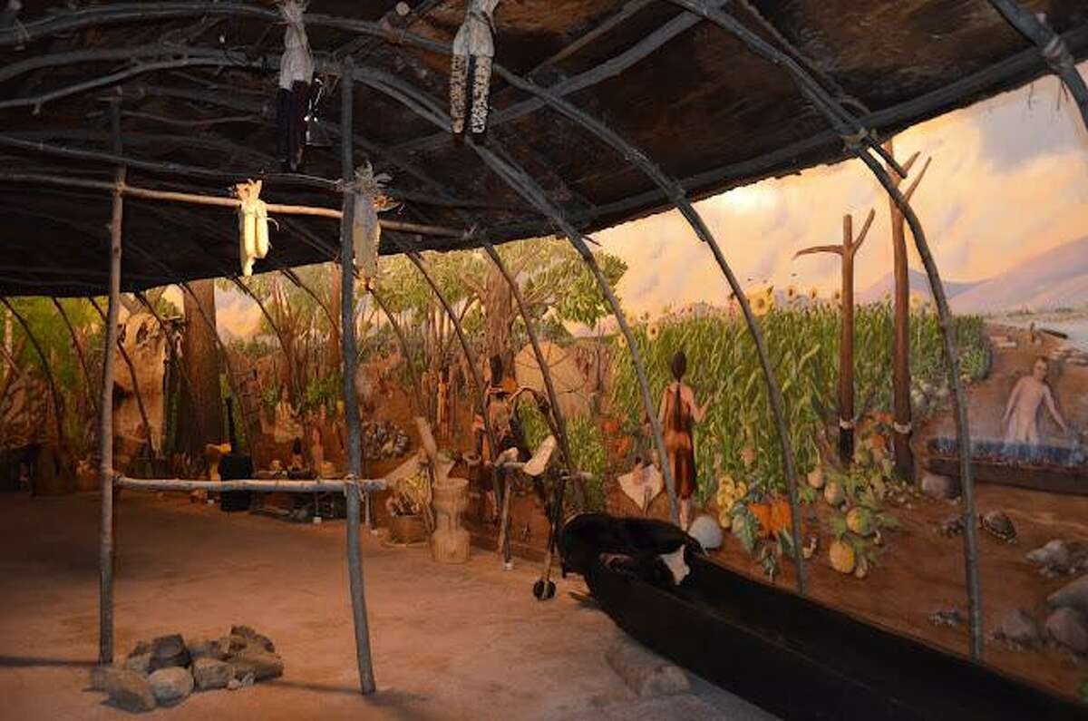The Institute for American Indian Studies in Washington Depot is participating in the Smithsonian Magazine's Museum Day on Saturday, September 18. A longhouse is shown.