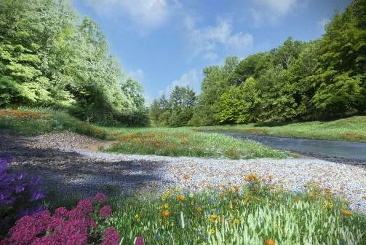 An artists rendering of what one stretch of the Norwalk River at Merwin Meadows Park might look like after the removal of the Dana Dam.