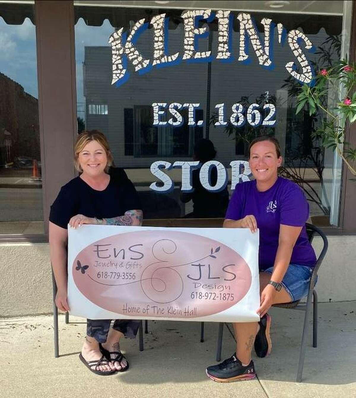 Aimee Long and Jamie Slaten are preparing to open The Co-Op in the former Klein Candy Store in Bethalto.