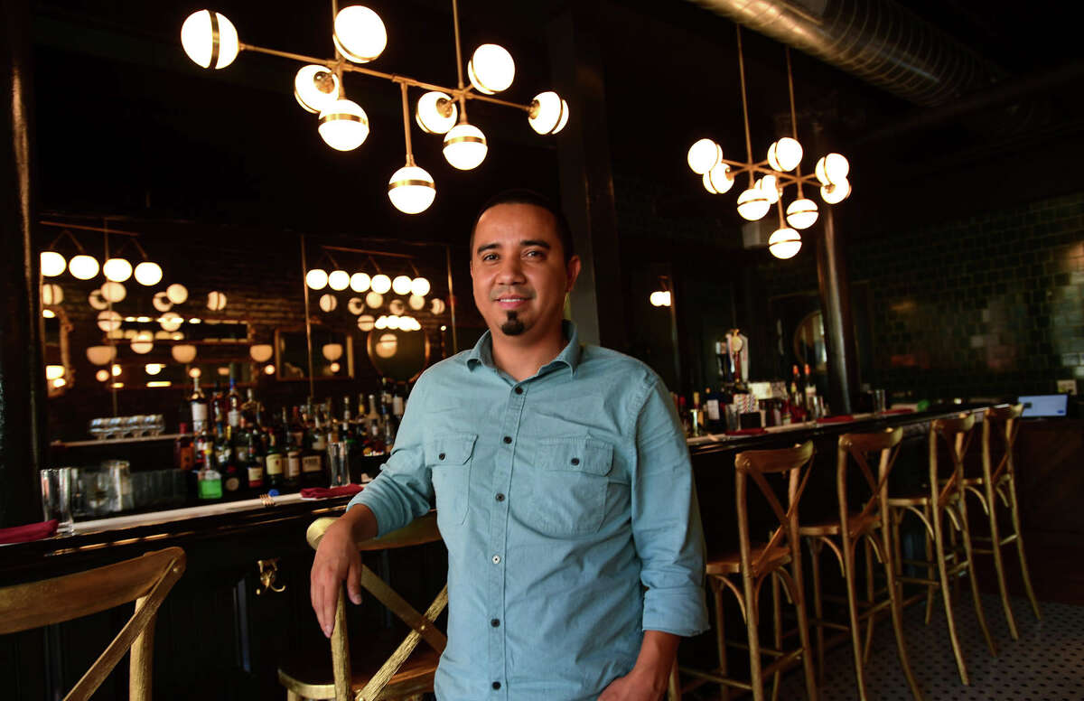 Appetit Bistro co owner, Edwin Montoya, at the restaurant Friday, September 10, 2021, in Norwalk, Conn. The restaurant is a new modern French bistro in SoNo. The second location by the owners with the original in Port Chester.