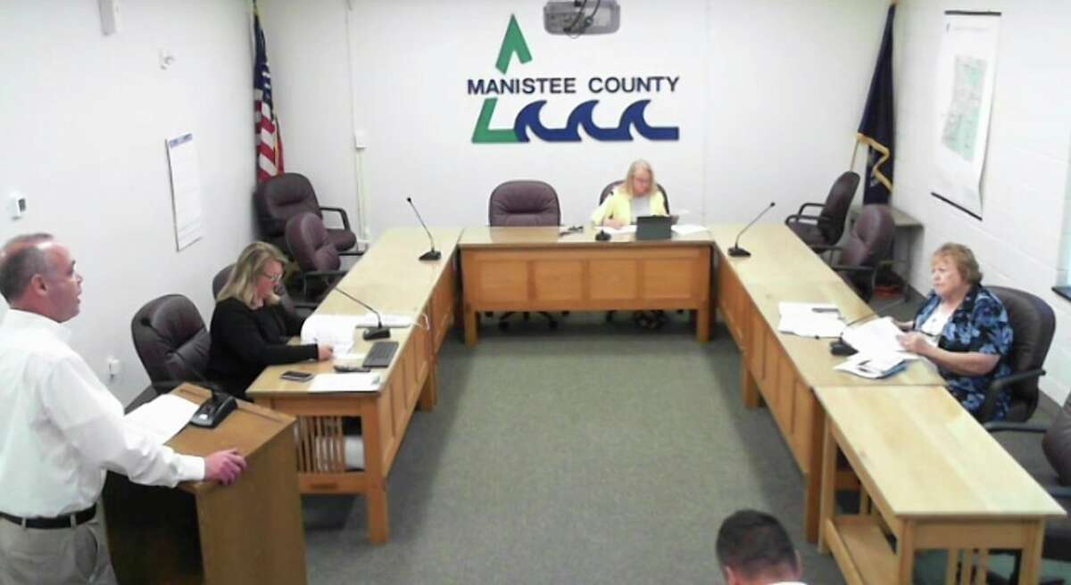 (Left) Paul Owens, operations manager with Mobile Medical Response in Manistee County, shared a report at the September Manistee County Public Safety Committee meeting elaborating initiatives MMR created to address staffing shortages. (Screenshot/Zoom )