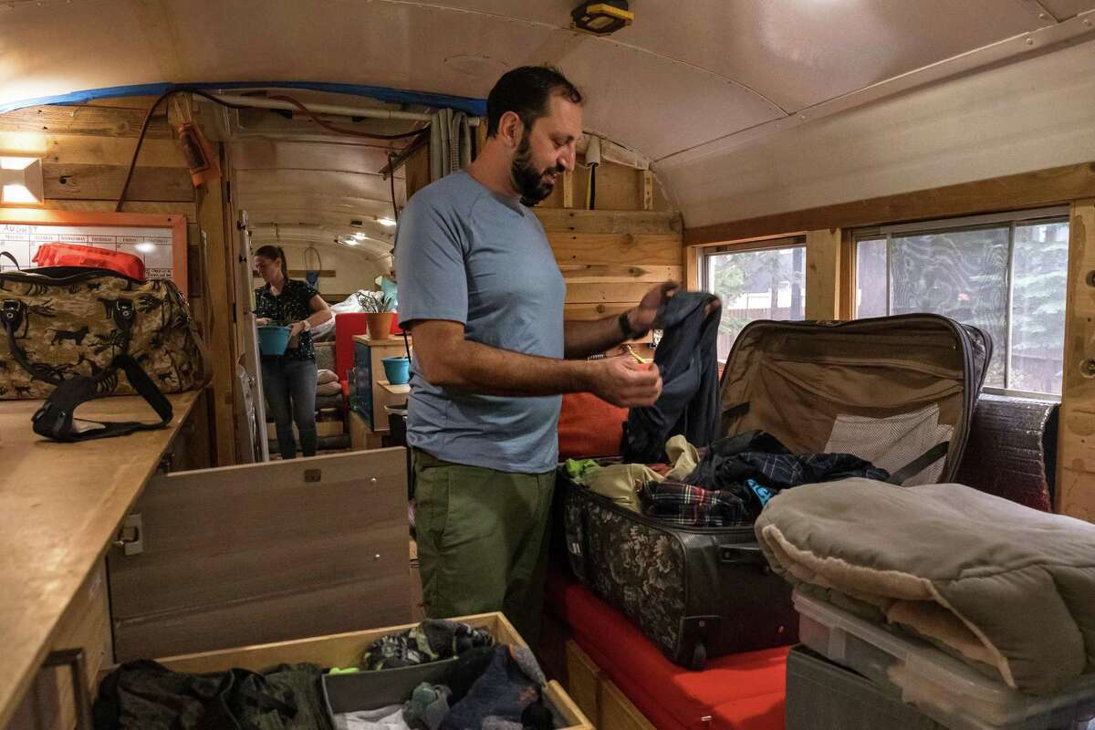 Philipson and Bonetti have been living in and working from their bus for four years. They had been based in South Lake Tahoe for the summer.