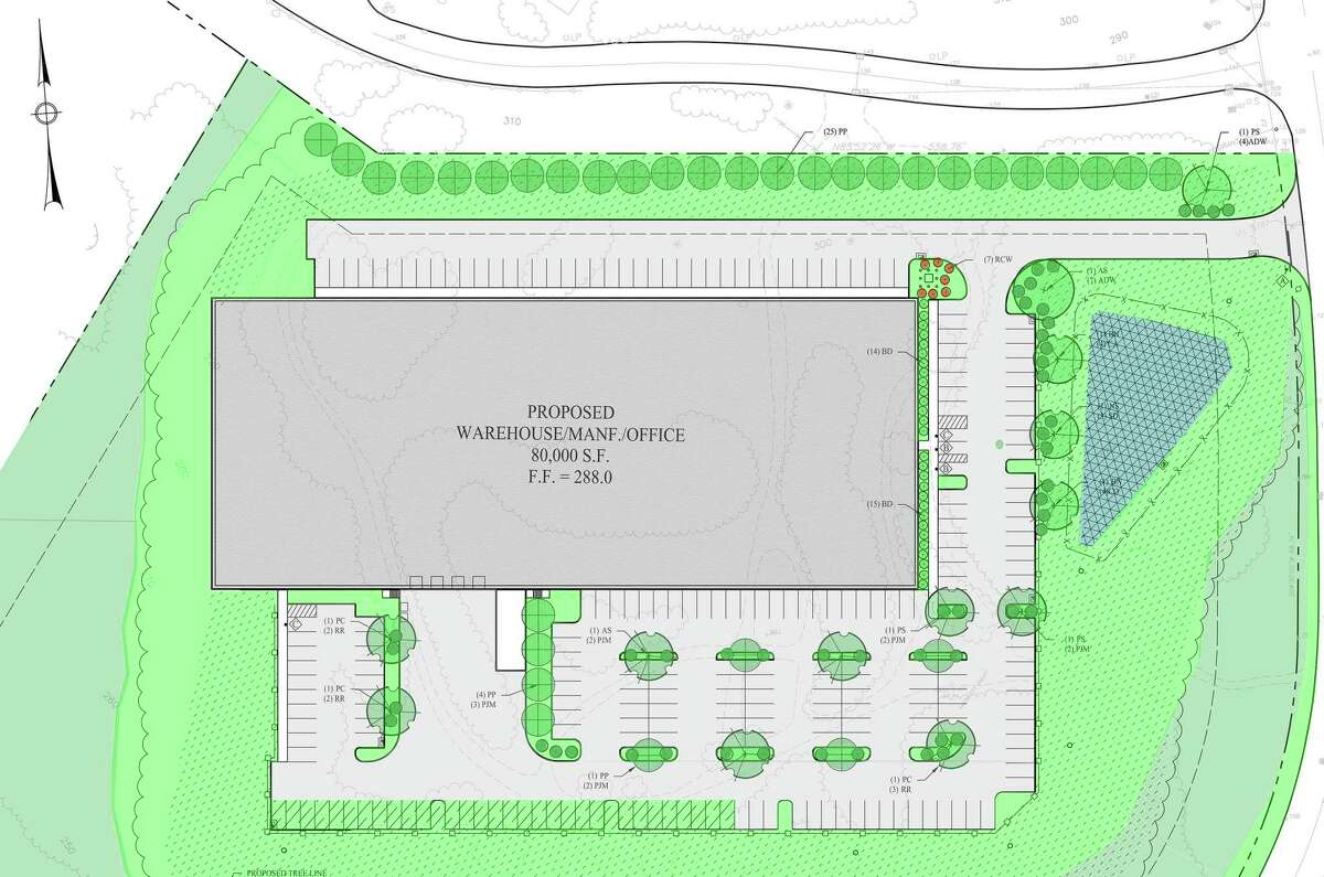 A rendering of a proposed development at the intersection of Waterview Drive and Constitution Boulevard.