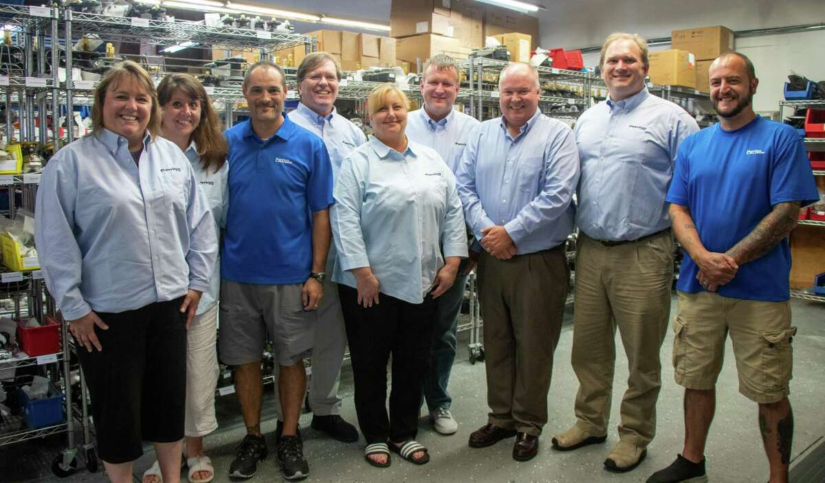 The team at Perrigo, Inc. is proud of being able to say they have been a family-owned business for 100 years. Perrigo, Inc. was started in March of 1921. Pictured (in no particular order are) Jessica Rogers, Kerry Christensen, Karl Fellen Boum, Michael Sheffler, Rob Clark, Mike Haas, John Christensen, Charlie Clark, Melissa Covello, and Glen Green.