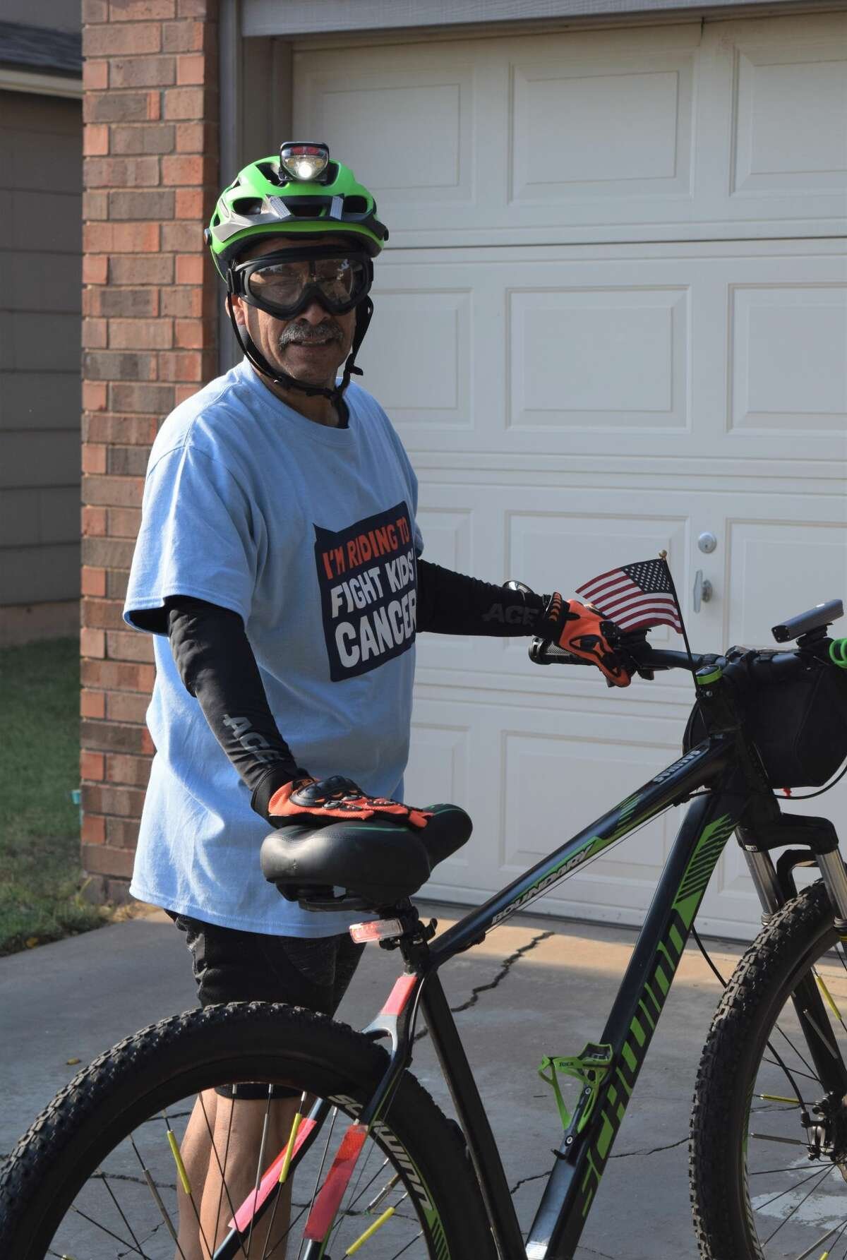 Cris Salinas has pledged to ride 300 miles and to raise $500 by the end of September. By Friday afternoon, his campaign, which can be found at https://greatcyclechallenge.com/Riders/CrisSalinas,