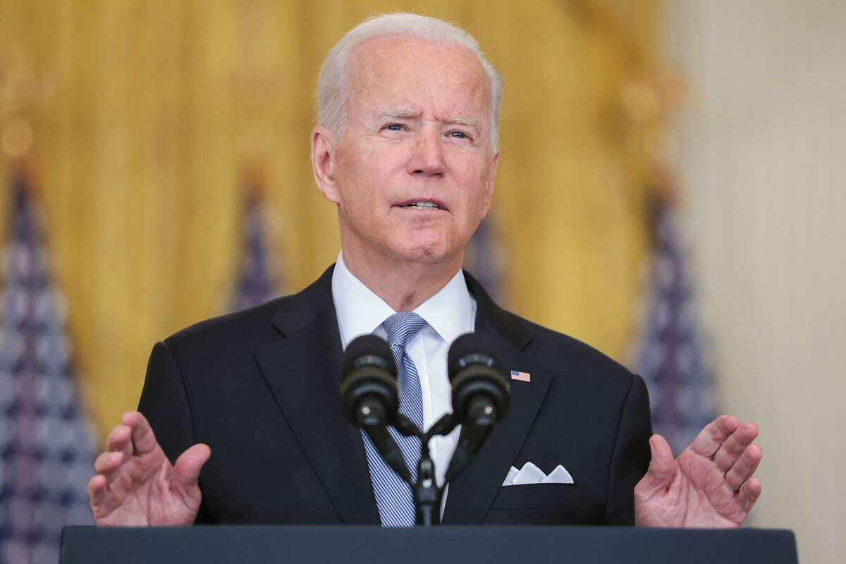 President Joe Biden discusses the withdrawal from Afghanistan during a news conference Aug. 16.
