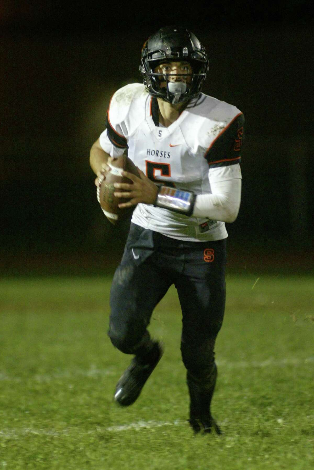 Schuylerville quarterback Owen Sherman has helped the Black Horses to the top spot in the Class B rankings.