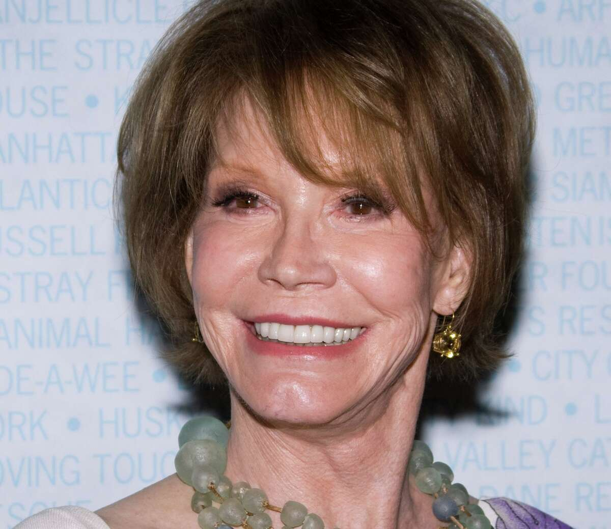 Actress Mary Tyler Moore attends Broadway Barks 11 in New York on July 11, 2009. She died in 2017 in Greenwich Hospital.