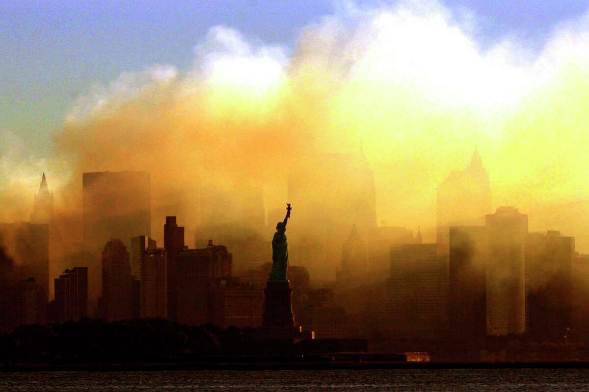 The Statue of Liberty is pictured on Sept. 15, 2001.