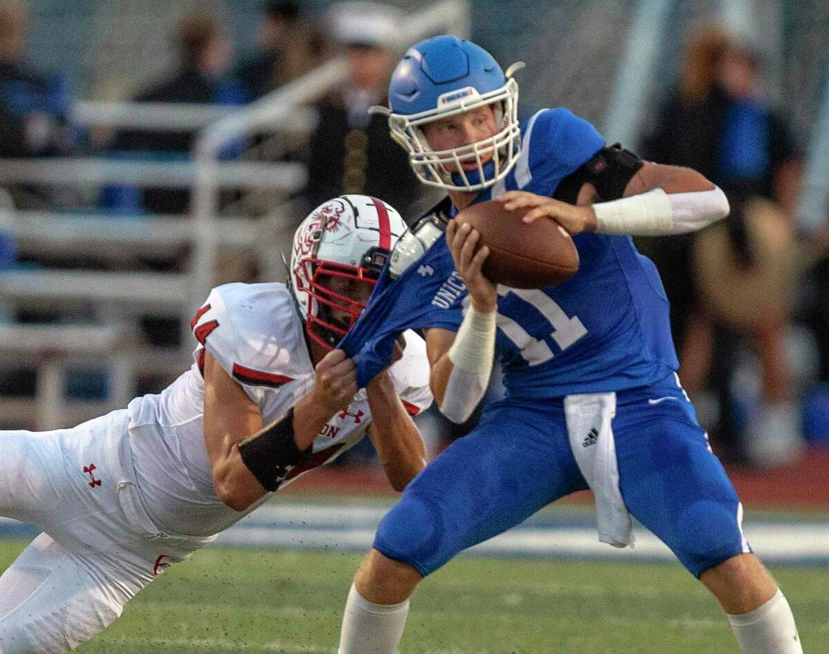 New Braunfels quarterback Aiden Baumann was 24 of 28 for 251 yards and two touchdowns as the Unicorns improved to 4-0.