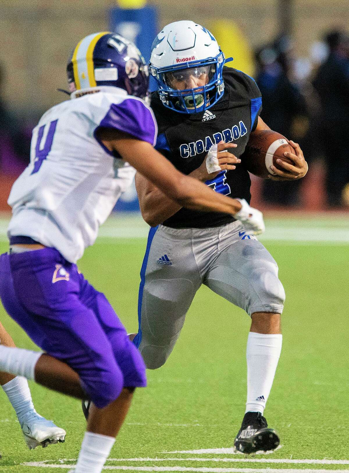 Ya-aqob Lozano rushed for 256 yards and four touchdowns Friday in Cigarroa's 40-14 win over LBJ at Shirley Field.