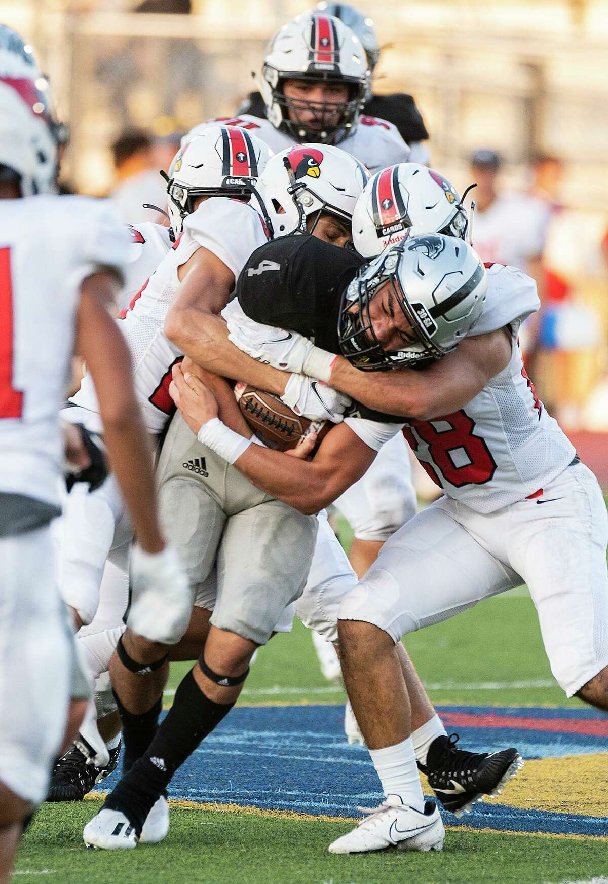 Brandon Benavides and United South fell 24-12 Friday at the SAC against Boerne-Champion.