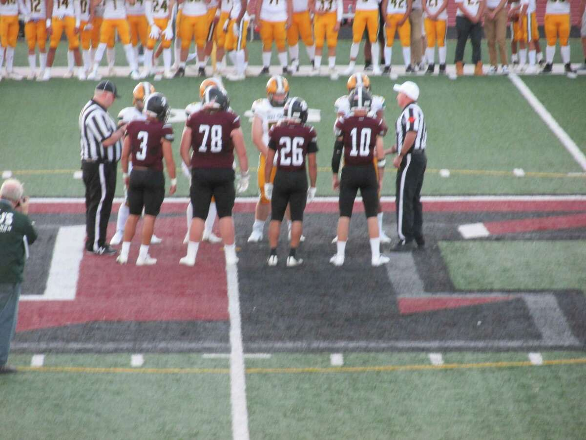 A big crowd showed up for the start of the first high school football season in two years at Torrington's Robert H. Frost Sports Complex Friday night for a Holy Cross opening win against the Raiders.