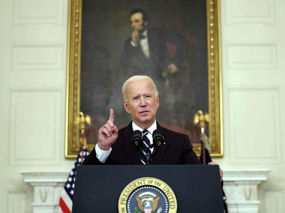 President Joe Biden speaks about combating the coronavirus pandemic, in the State Dining Room of the White House on Thursday, Sept. 9, 2021 in Washington, D.C.